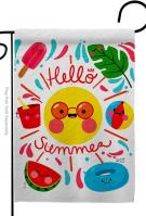 Hello Summer Decorative Garden Flag