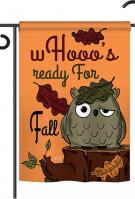 Whooo\'s Reday For Fall Garden Flag