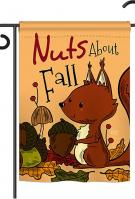 Nuts About Fall Garden Flag
