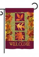 3 Fall Leaves Garden Flag