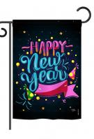 Popping Happy New Year Garden Flag