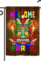 Welcome Tiki Party Garden Flag