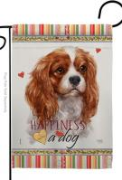 Charles Spaniel Happiness Garden Flag
