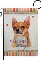 Shorthair Chihuahua Happiness Garden Flag