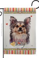 Chihuahua Happiness Garden Flag