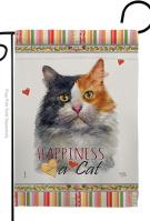 Long Hair Dilute Calico Happiness Garden Flag
