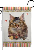 Maine Coon Happiness Garden Flag