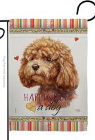 Poodle Happiness Garden Flag