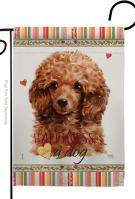 Miniature Poodle Happiness Garden Flag