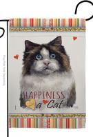 Mitted Ragdoll Happiness Garden Flag