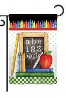 School Chalk Board Garden Flag