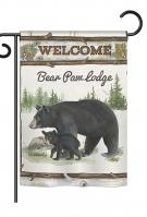 Bear Paw Lodge Garden Flag