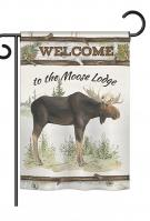 The Moose Lodge Garden Flag