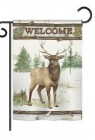 Welcome Deer Garden Flag