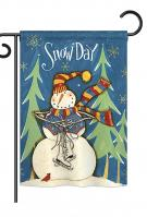 Winter Snow Day Garden Flag