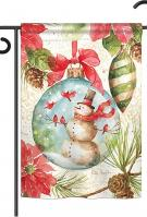 Woodland Holiday Garden Flag