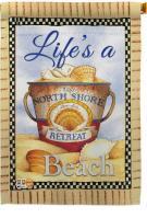 Summer Life\'s A Beach House Flag