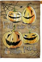 Fall Into Our Pumpkin Patch House Flag