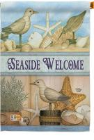 Welcome Seaside House Flag