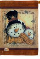 Enjoy Life Snowmen House Flag