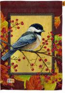Autumn Chickadee House Flag