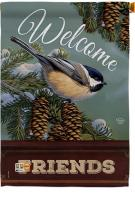 Welcome Chickadee House Flag