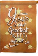 Jesus Is The Greatest Gift House Flag