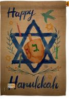 Happy Hanukkah Impressions Decorative House Flag