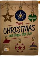 Joyful Christmas And New Year House Flag