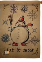 Winter Let It Snow Decorative House Flag