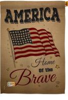 America Home Of The Brave House Flag