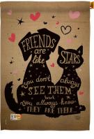 Friends Are Like Stars House Flag