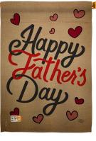 Happy Father\'s Day Hearts House Flag