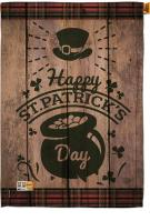 St. Patrick\'s Day Pot Of Gold House Flag