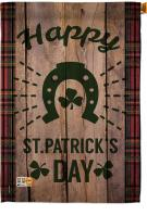 Lucky St. Patrick\'s Day House Flag