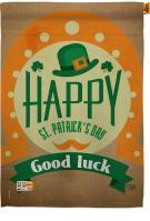 Good Luck St. Patrick\'s Day Decorative House Flag