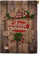 Winter Sweet Christmas House Flag