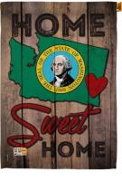 State Washington Home Sweet House Flag