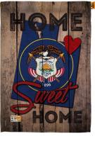State Utah Home Sweet House Flag