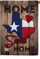 State Texas Home Sweet House Flag