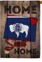 State Wyoming Home Sweet House Flag
