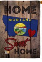 State Montana Home Sweet House Flag