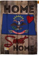 State North Dakota Home Sweet House Flag