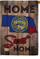 State Nebraska Home Sweet House Flag