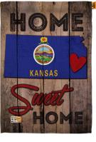 State Kansas Home Sweet House Flag