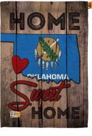 State Oklahoma Home Sweet House Flag