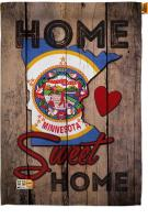 State Minnesota Home Sweet House Flag