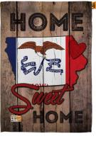 State Iowa Home Sweet House Flag