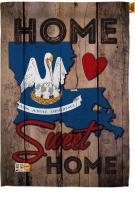 State Louisiana Home Sweet House Flag