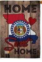 State Missouri Home Sweet House Flag